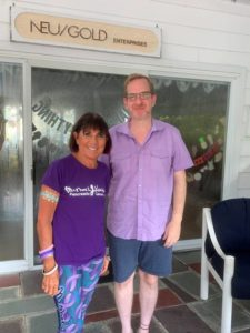 Anne Neustadter with Dr. Ben Stanger, the Director of the Penn Pancreatic Cancer Research Center